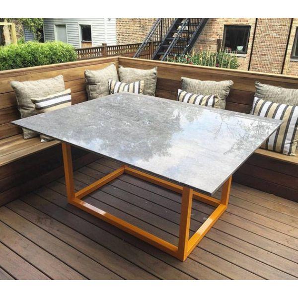 mesas para patios exteriores rectangular