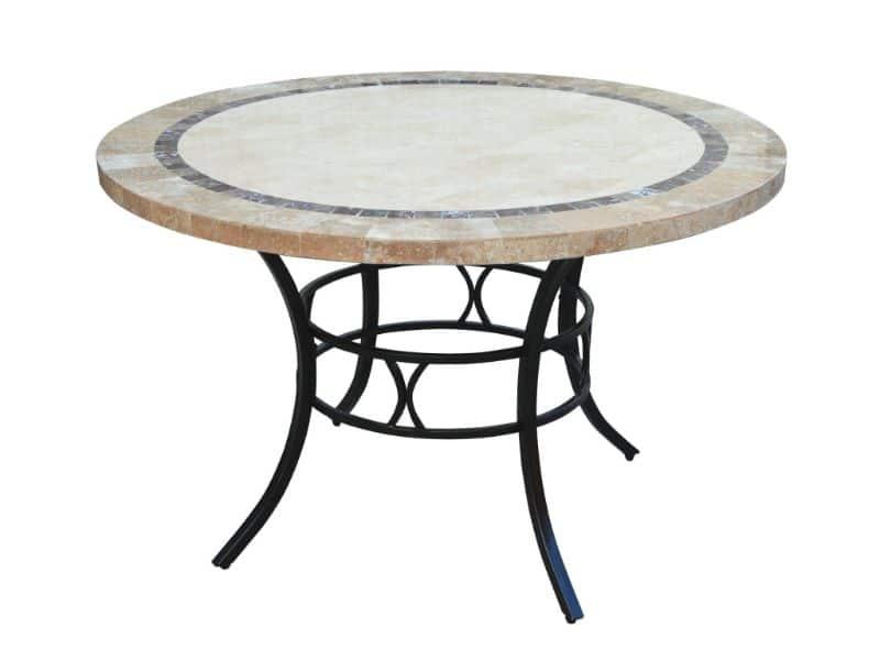 mesas para patios exteriores redondas de granito
