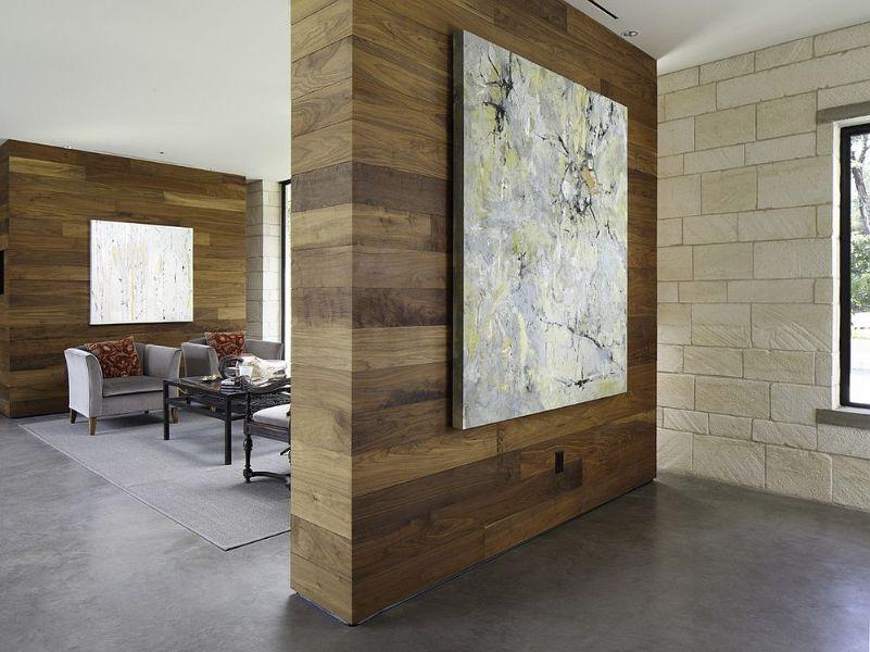 muros para dividir sala comedor de madera