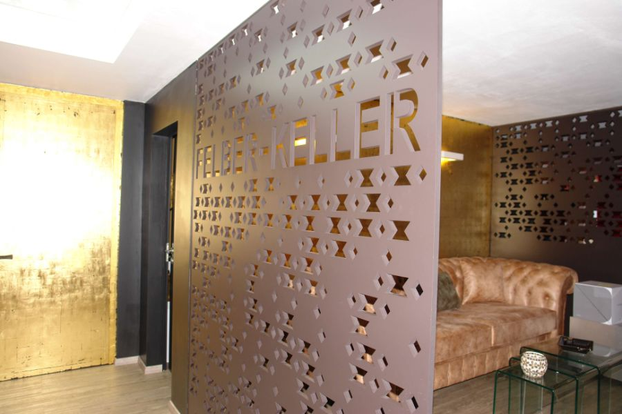 muros para dividir sala comedor modernos