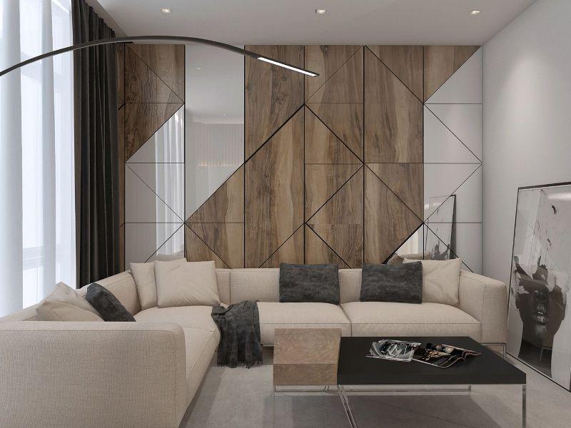 paredes modernas para interiores juego geometrico