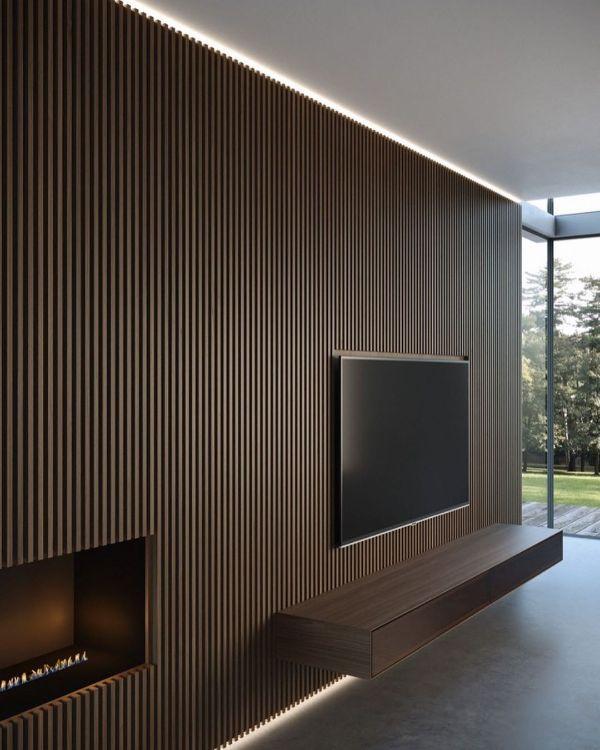 paredes modernas para interiores panel lineal